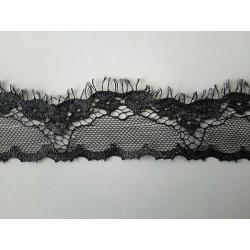 2951) Metri 1 di Passamaneria in elastico e pizzo bianco  alta cm 1,5