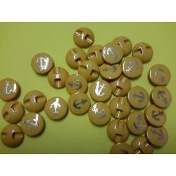 6180) N. 5 moschettoni in plastica portachiavi neri cm 7x2