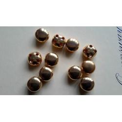 3662) N.1 scatolina di perline tubolari mm 2 circa ROSINO conteria vetro regolari