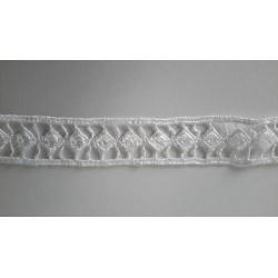2720) Metri 5 Nastro passamaneria tessuto sintetico panno beige cm 1 per bordatura